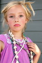 Somber Girl Playing Dress Up Royalty Free Stock Images - 20531269