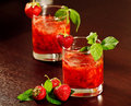 Cocktail With Strawberry Stock Image - 20545671
