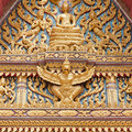 Decor On A Thai Buddhist Temple Royalty Free Stock Image - 20552596
