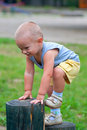Little Happy Boy Climbing Stock Images - 20598634
