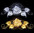 Gold And Silver Rose Royalty Free Stock Image - 20598896