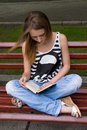 Girl Reading Book Royalty Free Stock Photography - 20599517