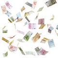 Flying Euro Paper Money Stock Photo - 20613090