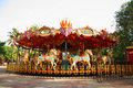 Merry Go Round In Empty Theme Park Royalty Free Stock Image - 20657846