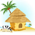 Hut With Cow Royalty Free Stock Photos - 20688678