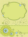 Greeting Card With Flowers Royalty Free Stock Images - 20723649