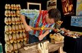 NYC: Craftsman Making Wooden Shoes Stock Photography - 20741372