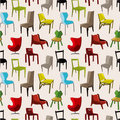 Chair Furniture Seamless Pattern Stock Photography - 20747732