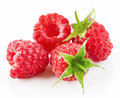 Raspberry Berries With Green Leaf Stock Image - 20751681