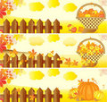 Autumn Banners Royalty Free Stock Photography - 20760087