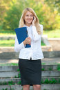 Business Woman Talking On A Cell Phone Stock Image - 20760741