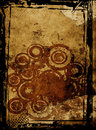 Grunge Circles Illustration On Scraped Paper Stock Photography - 2080642