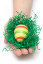 Holding An Easter Egg Royalty Free Stock Photo - 2080725