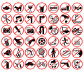 Forbidden Icons Stock Photography - 2084032