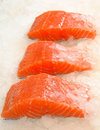 Skinless Salmon Fillet On Ice Royalty Free Stock Images - 20800009