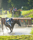 Accident At The Water Jump. Stock Photos - 20826123