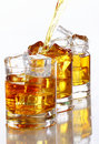 Pouring Whiskey Into The Glass Royalty Free Stock Photo - 20826455