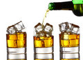 Pouring Whiskey Into The Glass Stock Images - 20826494