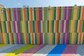 Multicolored Painted Sidewalk And Walls. Royalty Free Stock Image - 20856586