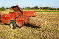 Baling Hay In Filed Royalty Free Stock Photo - 20859435