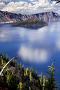Crater Lake Reflection Clouds Blue Sky Oregon Royalty Free Stock Photos - 20887938
