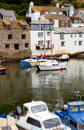 Polperro Harbor Boats Village Stock Photo - 20892130