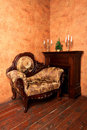 Old-fashioned Interior With Luxury Armchair Royalty Free Stock Images - 20896339