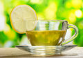 Tea With Lemon On Green Leaves Stock Photography - 20898352