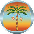 Metal Medallion With The Date Palm Royalty Free Stock Photos - 20901958