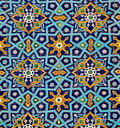 Oriental Pattern On Tiles Royalty Free Stock Images - 20910569