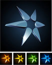 Color Star Vibrant Emblems. Royalty Free Stock Photo - 20933815
