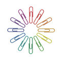 Paperclips Color Wheel 3d Stock Images - 20959954