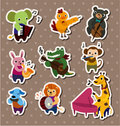 Animal Play Music Stickers,Label Royalty Free Stock Photography - 20961057