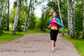 Girl Jogging Royalty Free Stock Photography - 20974317