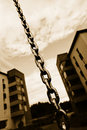 Chain And Apartment Blocks Stock Photography - 20995282
