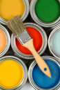 Brush On Paint Cans Stock Image - 20996881