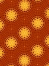 Gold And Red Circle Patterns Stock Image - 2100481