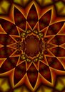 Kaleidoscope Pattern In Reds Stock Photography - 2100522