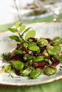 Salad Made From Beans And Salami Stock Photography - 2101022