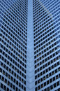 Inside Corner Of A Glass-windowed Office Tower Royalty Free Stock Image - 2103446