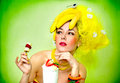 Sexy Banana Lady With Cream Cocktail Stock Images - 2109984