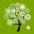 Spring Beautiful White Tree For Your Design Royalty Free Stock Photo - 21035705