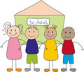 Children And School Royalty Free Stock Photography - 21041427
