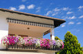 Balcony With Flowers Stock Images - 21045924