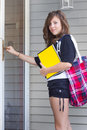 Girl Home From School Royalty Free Stock Photos - 21055838