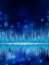 Abstract Bokeh Waveform Vector Background. EPS 8 Stock Photos - 21059243