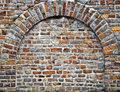 Cut Out Rocks In Wall With Arched Brickwork Royalty Free Stock Photo - 21062685