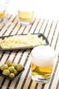 Beer With Chips Royalty Free Stock Photography - 21064197