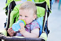 Drinking Infant Girl Royalty Free Stock Photography - 21086967