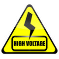 High Voltage Sign Royalty Free Stock Photography - 21095717